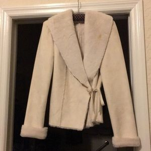 Beautiful Cream suede jacket. Very elegant
